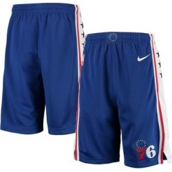 Philadelphia 76ers Nike Youth 2020/21 Swingman Shorts - Icon Edition Royal found on Bargain Bro Philippines from Fanatics for $44.99