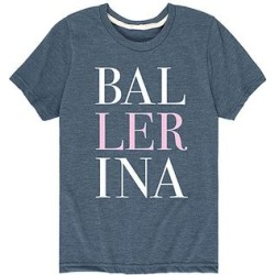 Instant Message Girls' Tee Shirts HEATHER - Heather Blue 'Ballerina' Stacked Tee - Toddler & Girls found on Bargain Bro from zulily.com for USD $8.35
