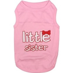 Parisian Pet Pet Tee Shirts Pink - Pink 'Little Sister' Dog Tee found on Bargain Bro from zulily.com for USD $9.09