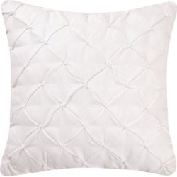Diamond Tuck White Feather Down 17x17 Throw Decorative Accent Throw Pillow (Diamond Tuck Pillow, White - Set of 2)(Linen, Solid Color) found on Bargain Bro Philippines from Overstock for $39.99