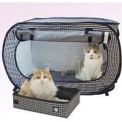 Necoichi Portable Stress Free Cat Cage and Litter Box Set found on Bargain Bro from Chewy.com for USD $39.52