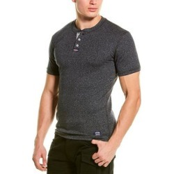 Superdry Heritage Grandad Henley (Y6J - 2XL), Men's, Black(cotton) found on Bargain Bro Philippines from Overstock for $19.79