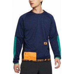 Nike Mens Sweater Blue Size XL Therma Colorblocked Training Pullover found on MODAPINS from Overstock for USD $49.97