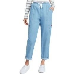 Drawstring Crop Chambray Pants - Blue - Dickies Pants found on Bargain Bro India from lyst.com for $60.00