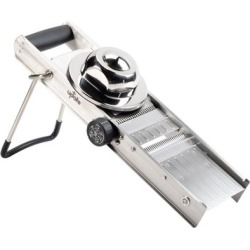 Stainless Steel Mandoline Slicer with 4 Built-In Blades found on Bargain Bro India from webstaurantstore.com for $78.99