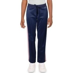 Bebe Sport Women's Striped Rhinestone Logo Bootcut Activewear Workout Pants - Navy/Zephyr (S), Blue/Zephyr(polyester) found on Bargain Bro Philippines from Overstock for $17.99