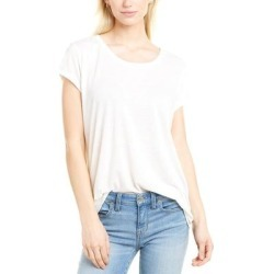French Connection Hetty Linen-Blend T-Shirt (WINTER WHITE - 12), Women's, Multicolor found on MODAPINS from Overstock for USD $20.99