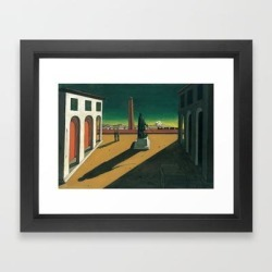 Framed Art Print | Giorgio De Chirico - The Square [1913] by Asar Studios - Vector Black - X-Small-10x12 - Society6 found on Bargain Bro India from Society6 for $35.19