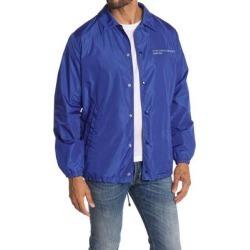 Adjustable Hem Coat - Blue - Valentino Coats found on Bargain Bro India from lyst.com for $450.00