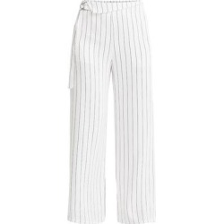 Striped Wide Leg Trousers In White & Black - White - Paisie Pants found on MODAPINS from lyst.com for USD $163.00