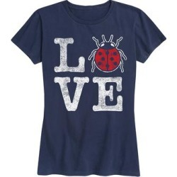 Instant Message Women's Women's Tee Shirts NAVY - Navy 'LOVE' Relaxed-Fit Tee - Women & Plus found on Bargain Bro India from zulily.com for $14.99
