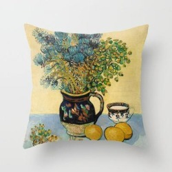 Throw Pillow   Vincent Van Gogh - Still Life by Old Masters - Cover (16