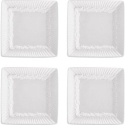 Mikasa Italian Countryside 4-pc. Square Dip Plate Set, White, 2PC SRV ST found on Bargain Bro Philippines from Kohl's for $22.49