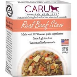 Caru Real Beef Stew Grain-Free Wet Dog Food, 12.5-oz, case of 12 found on Bargain Bro from Chewy.com for USD $45.51