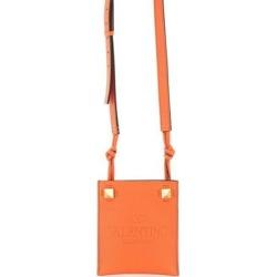 Garavani Rockstud Logo Embossed Messenger Bag - Orange - Valentino Garavani Messenger found on Bargain Bro from lyst.com for USD $465.88