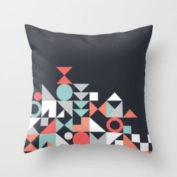 Couch Throw Pillow | Modern Geometric 30 by The Old Art Studio - Cover (16