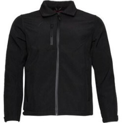 Mens Zipper Water Resistant Jacket Collar Fleece Lining Zip Pocket Polyester (L), Men's, Black found on Bargain Bro Philippines from Overstock for $30.25