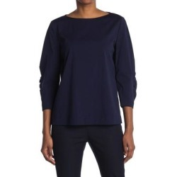 June 3/4 Sleeve Blouse - Blue - Lafayette 148 New York Tops found on Bargain Bro from lyst.com for USD $114.00