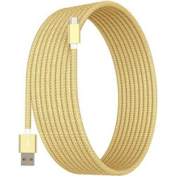 Tech Zebra Micro USB Cables Gold - Gold 10' Micro-USB Charging Cable found on Bargain Bro Philippines from zulily.com for $9.49