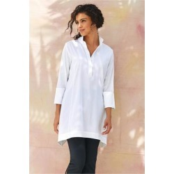 Women's Portia Tunic Top by Soft Surroundings, in White size XS (2-4)
