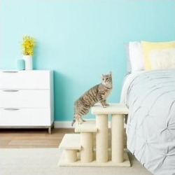 Frisco 18.5 or 24.5 Inch 2-in-1 Cat & Dog Stairs, Cream found on Bargain Bro Philippines from Chewy.com for $52.99