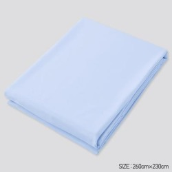 UNIQLO Airism Queen Size Flat Sheet, Blue found on Bargain Bro India from Uniqlo for $59.90