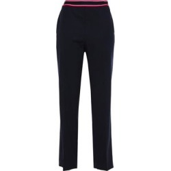 Irene Cropped Striped Twill Straight-leg Pants Midnight Blue - Blue - Sandro Pants found on MODAPINS from lyst.com for USD $108.00