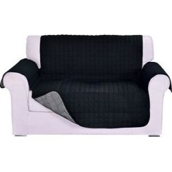 Elegant Comfort Reversible Quilted Sofa Cover, Black/Gray found on Bargain Bro India from Chewy.com for $25.99