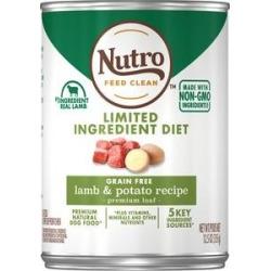 Nutro Natural Choice Grain-Free Adult Grass-Fed Lamb & Potato Recipe Canned Dog Food, 12.5-oz, 12ct