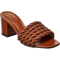 Valentino Leather Sandal (39), Women's, Brown found on Bargain Bro Philippines from Overstock for $692.99