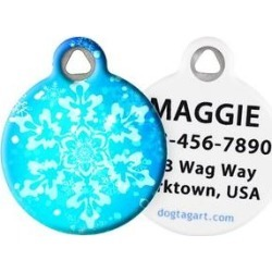 Dog Tag Art Snowflake Personalized Dog & Cat ID Tag, Large