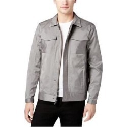 Calvin Klein Mens Pinstriped Trucker Jacket (XX-Large), Men's, Gray(cotton) found on Bargain Bro Philippines from Overstock for $91.62