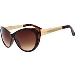Oscar de la Renta Women's Sunglasses Shiny - Shiny Dark Demi Tortoise & Goldtone Cat-Eye Sunglasses found on MODAPINS from zulily.com for USD $16.99