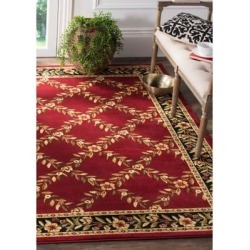 Safavieh Red/Black Lyndhurst Chelsea Area Rug Collection found on Bargain Bro Philippines from belk for $514.00