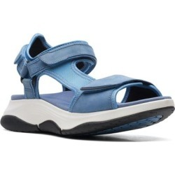 Clarks Wave 2.0 Skip Sandal - Blue - Clarks Flats found on Bargain Bro India from lyst.com for $110.00