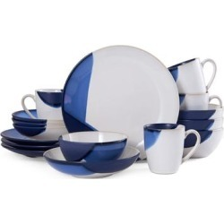 Gourmet Basics by Mikasa Caden Blue 16-Piece Dinnerware Set (Service for 4) found on Bargain Bro India from Overstock for $92.49
