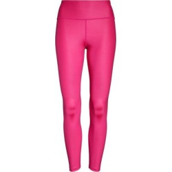 One Faux Leather Mid Rise 7/8 Leggings - Pink - Nike Pants found on Bargain Bro from lyst.com for USD $53.20