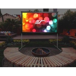 Elite Screens Yardmaster2Portable Folding Frame Projector Screen in White, Size 79.5 H x 135.9 W in | Wayfair OMS150H2-DUAL found on Bargain Bro Philippines from Wayfair for $787.00