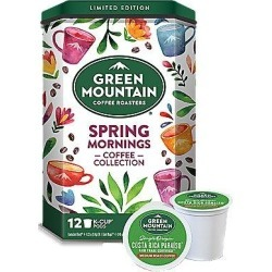 12 Ct Green Mountain Coffee Spring Mornings Coffee Collection K-Cup® Pods. Coffee found on Bargain Bro from Keurig.com for USD $9.87