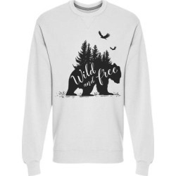 Wild And Free, Bear Sweatshirt Men's -Image by Shutterstock (M), White(cotton) found on Bargain Bro Philippines from Overstock for $24.99