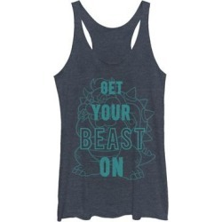 Fifth Sun Women's Tank Tops NAVY - Super Mario Bowser 'Get Your Beast On' Racerback Tank - Women found on Bargain Bro Philippines from zulily.com for $15.69