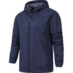 Men's Thin Single Layer Jacket Outdoor Jacket Windproof Waterproof Jacket Four Seasons Mountaineering Suit (Dark Blue - Medium)(polyester) found on Bargain Bro Philippines from Overstock for $57.71