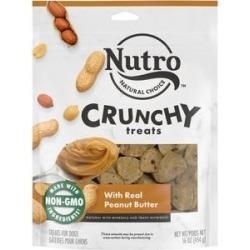 Nutro Crunchy with Real Peanut Butter Dog Treats, 16-oz bag