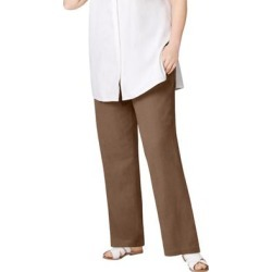 Plus Size Women's Linen Blend Drawstring Pants by ellos in Pecan Brown (Size 18) found on Bargain Bro Philippines from Ellos for $34.90