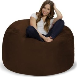 Bean Bag Chair 4-foot Memory Foam Removable Cover Bean Bags found on Bargain Bro from Overstock for USD $138.31