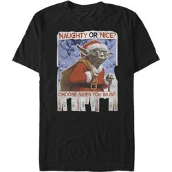 Fifth Sun Men's Tee Shirts BLACK - Star Wars Black 'Naughty or Nice' Tee - Men found on Bargain Bro from zulily.com for USD $12.15