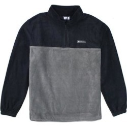 Columbia Mens Sweater Black Gray Small S Fleece Steens Mountain 1/2 Zip (S), Men's found on MODAPINS from Overstock for USD $37.98