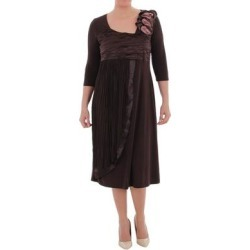 LA MOUETTE Women's Plus Size Medievally Chic Jersey Dress (Brown - 16W) found on Bargain Bro from Overstock for USD $59.11