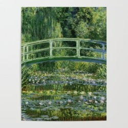 Art Poster | Water Lilies And Japanese Footbridge, Claude Monet by Historia Fine Art Gallery - 18
