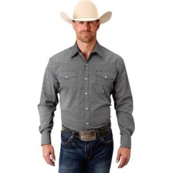 Roper Western Shirt Mens Long Sleeve Snap Black (S), Men's(cotton, embroidered) found on Bargain Bro India from Overstock for $48.44